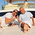 Eric Changelian on a boat